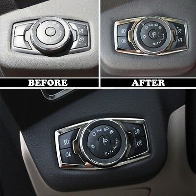 Chrome Fog Head Light Switch Button Cover Trim For Ford Escape Kuga 2013-2017 BE