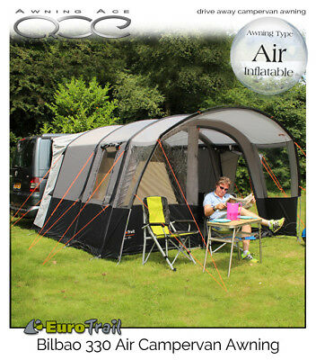 Brand New EuroTrail Bilbao Air Inflatable 330 Drive Away Campervan Awning