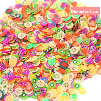 300pcs/Bag Thick DIY Clay Slime Crystal Mud Accessories Animal Cupcakes Fruit