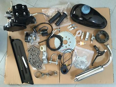 High Quality 80cc 38km/h Motorised Bicycle Push Modified Engine Kit Set Black
