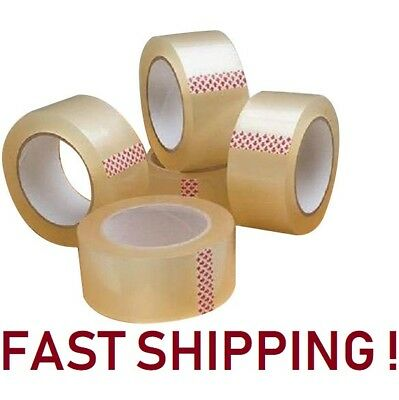 "48 ROLLS CLEAR PARCEL CARTON SEALING PACKING REMOVAL selotape TAPE 2""48MM X 66M"