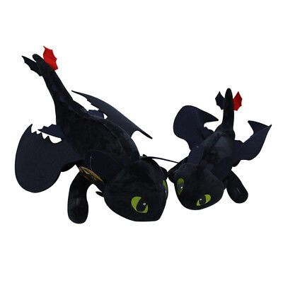 How To Train Your Dragon TOOTHLESS Night Fury Plush Toy Soft Doll Kids Gift