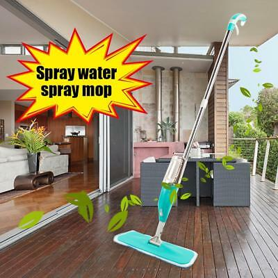 Spray Mop Water Spraying Floor 360 Spin Head Cleaner Kitchen with Cleaning Pad