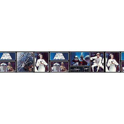 Star Wars Retro Self Adhesive Wallpaper Border 5M Kids Bedroom Free P+P
