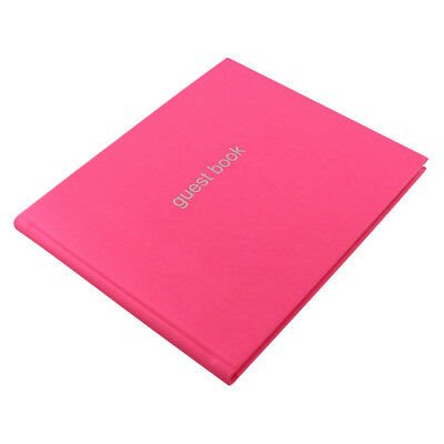 A4 Pink Letts Guest Book Visitor Book Wedding Guest Book Landscape (Soft Cover)