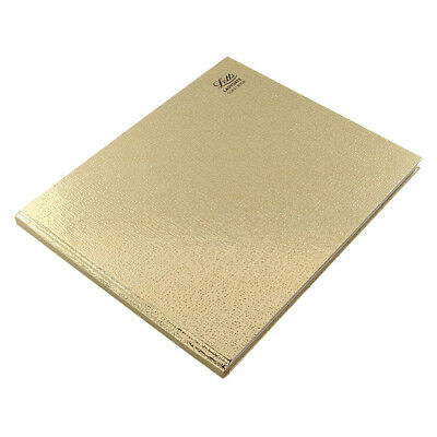 A4 Gold Letts Guest Book Visitor Book Wedding Guest Book Landscape (Hard Cover)