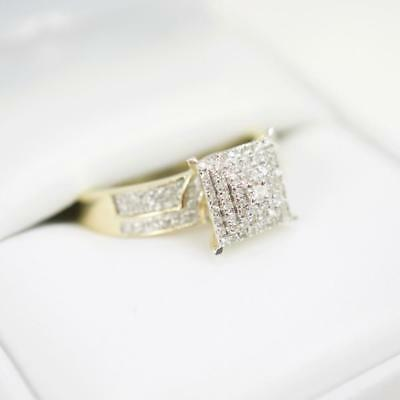 2Ct Round D/VVS1 Halo Diamond Engagement Ring Ladies 14K Yellow Gold Over