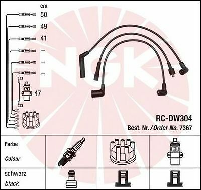 New Set Ngk Ignition Leads Cables Wires Daewoo Chevrolet Matiz Tico 0.8 Rc-Dw304