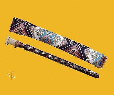 Armenian Duduk With National Motive Case And One Reed