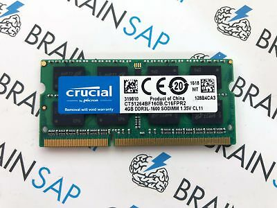 4GB DDR3 RAM Crucial CT51264BF160B SO-DIMM - PC3L-12800S 1600 MHz