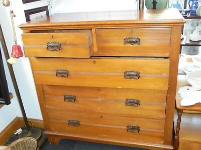 Satinwood Chest Of Drawers Vintage