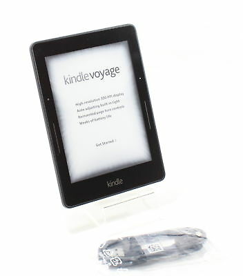 Amazon Kindle Voyage, HD(300 ppi) Wi-Fi, 6in With S/O- Black-GOOD