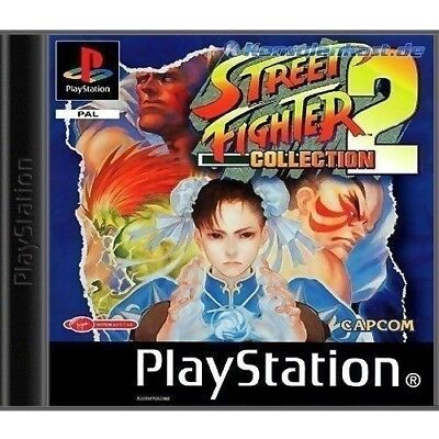 PS1 / Sony Playstation 1 Spiel - Street Fighter Collection 2 mit OVP