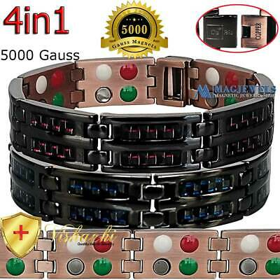 Carbon Fiber Pure Solid Copper Magnetic Chain Bracelet Men Women Arthritis Pc10V