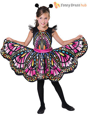 Girls Butterfly Costume Childs Bug Ball Insect Fancy Dress Kids Book Week Day