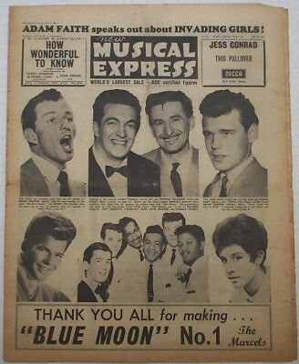 "Vintage ""NEW MUSICAL EXPRESS"" NME. 6/5/1961. Donegan; Tony Bennett; Adam Faith."