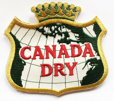 "Nice Old Large  6.5"" Canada Dry Embroidered Jacket Patch,  unused vintage"