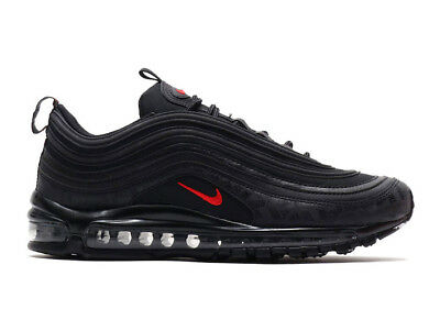 NIKE AIR MAX 97 Triple Black Red Graphic Print Undefeated Nikelab 45 10 11 Neu