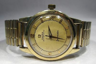 Estate Vintage 14K Gold Filled Omega Seamaster GX6250 Men Wrist Watch C2123