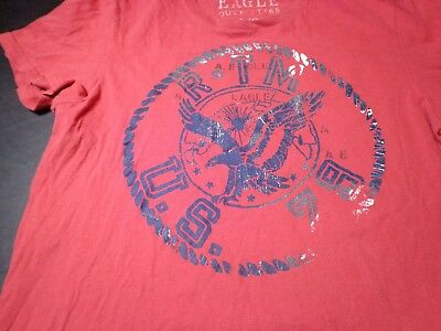 American Eagle Outfitters AEO US 79 Tee Mens Red Vintage Fit T-Shirt NWT