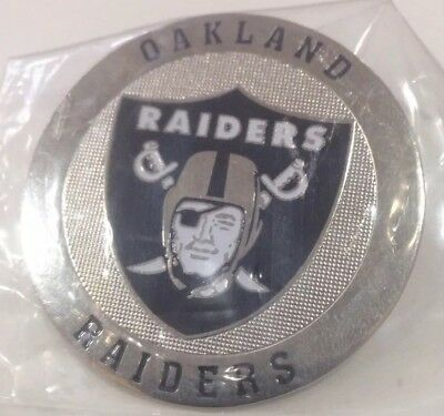 Oakland Raiders metal Round Logo Poker Cards Protector