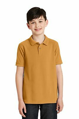 Port Authority  Youth Silk Touch Polo. Y500 Gold M