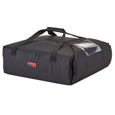 "Cambro GBP220110 Black Pizza Delivery Bag - (2) 20"" Pizza Capacity - Case of 4"