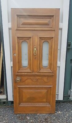 Antique Front Door Glazed Reclaimed solid Georgian victorian Edwardian carved