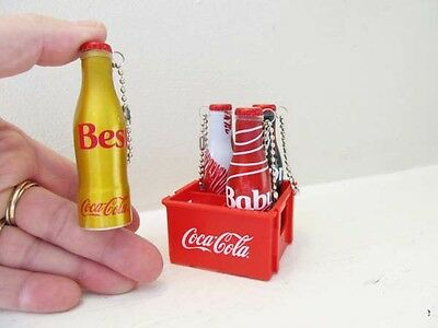 Coca-Cola Brazil Collection 2015 Set of 4 Miniature Aluminum Bottles and Crate