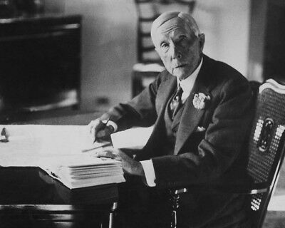 Businessman JOHN D ROCKEFELLER Glossy 8x10 Photo Standard Oil Company Poster