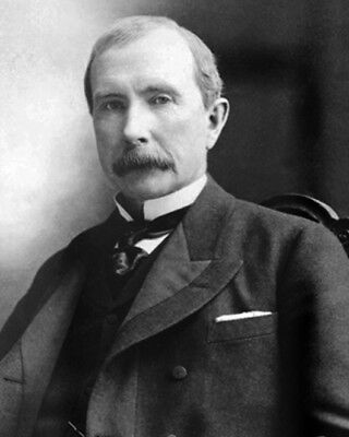 1885 Businessman JOHN D ROCKEFELLER Glossy 8x10 Photo Standard Oil Co. Poster
