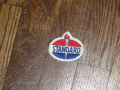 "gas station patch standard  oil 50's new old stock ,2.25x2"",for hat or shirt"