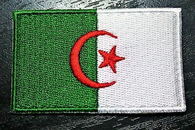 FLAG PATCH PATCHES ALGERIA ALGERIAN OLD IRON ON COUNTRY EMBROIDERED WORLD FLAG