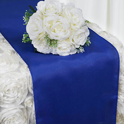 """Royal Blue POLYESTER 12x108"""" Table RUNNER Wedding Party Kitchen Linens SALE"""