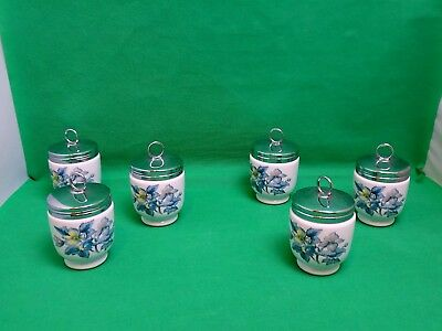 Royal Worcester Sylvia King Size ( 2 Eggs) Egg Coddlers x 6