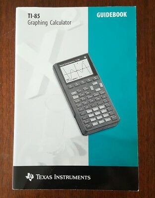 Texas Instruments TI-85 Graphing Calculator Guidebook Instruction Manual Only