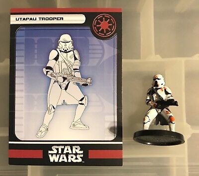 Star Wars Miniatures #38 Utapau Trooper Champions Of The Force With Card