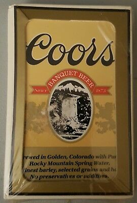 Vintage 1970s Playing Cards COORS BEER Advertising. New, sealed in plastic.