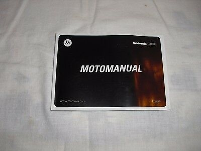 motorola c168i cell phone motomanual user guide manual 6 00 rh picclick com Motorola Droid X Motorola MicroTAC