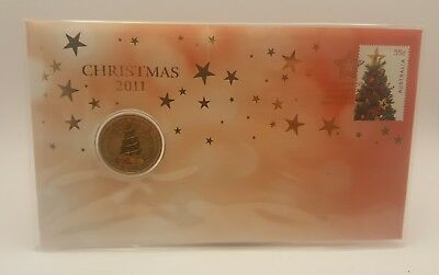 2011 1$ Merry Christmas Coin - Uncirculated In Protective Cover