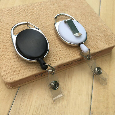 1Pc Retractable Reel Lanyard Name Tag Key Chain ID Card Badge Card Holder Clip