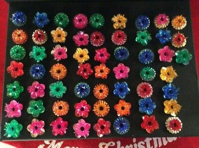 vintage plastic christmas tree light reflectors pink blue green amber red 59 pcs