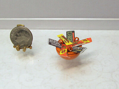 Dollhouse Miniature Orange Bowl of Halloween Candy