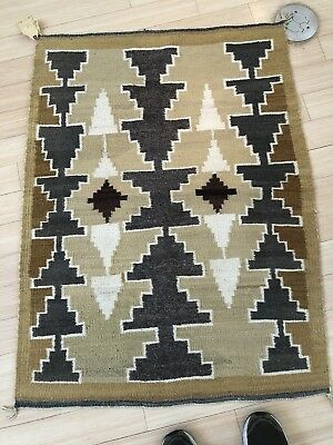 A Vintage Navajo Hubbell Trading Post Chinle Style Rug Weaving By