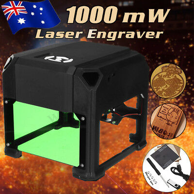 1000mW USB Mini Laser Engraver Printer Cutter Carver DIY Mark Engraving Machine