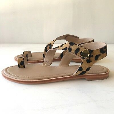 [COUNTRY ROAD] NEW! SZ 38,40,41 [CR LOVE] meredith flat sandal leopard 7,9,10