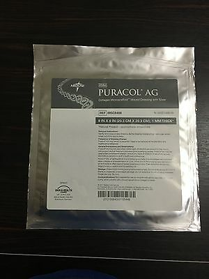 "8"" x 8"" Puracol Plus AG Wound Care Dressing -- Bundle of 10"