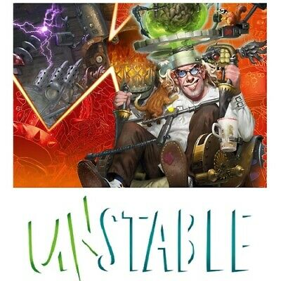 Unstable UST Complete Set with Mythic Rare, Full Art Basic Land and Token MTG