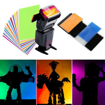 Universal 12 Colour Gel Filter Balance Effect Filters For Cameras Flash Lamp