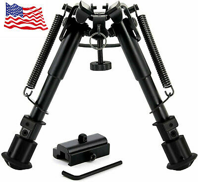 "CVLIFE 6""-9"" Tactical Rifle Bipod Adjustable Spring Return with Adapter"